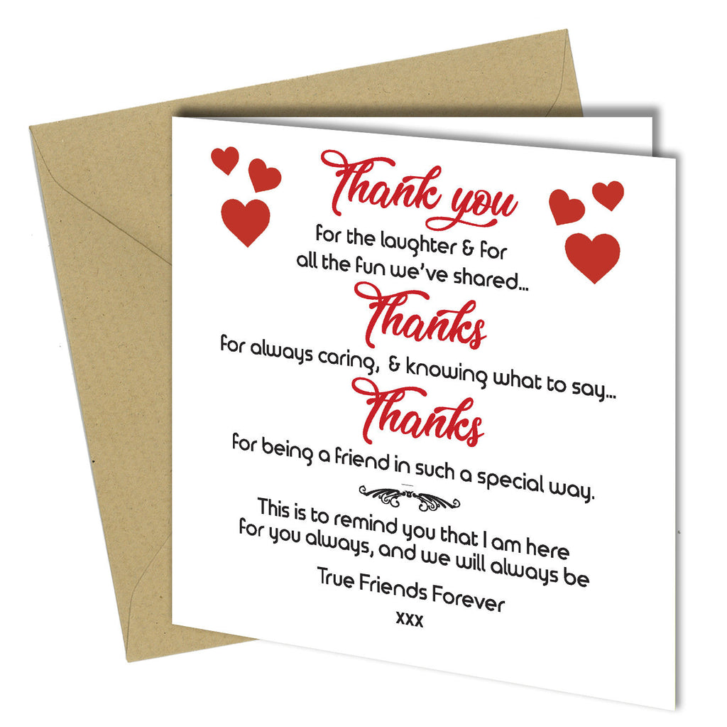 Brilliant 710 Friendship Card Best Friends Birthday Xmas Thank You Greeting Car Personalised Birthday Cards Veneteletsinfo