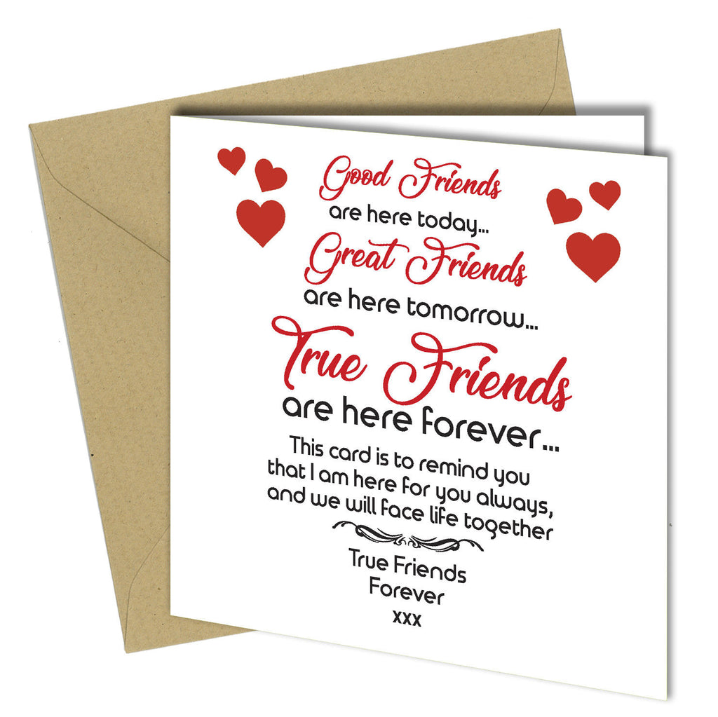 Awesome 709 Friendship Card Best Friends Birthday Xmas Thank You Greeting Car Personalised Birthday Cards Veneteletsinfo