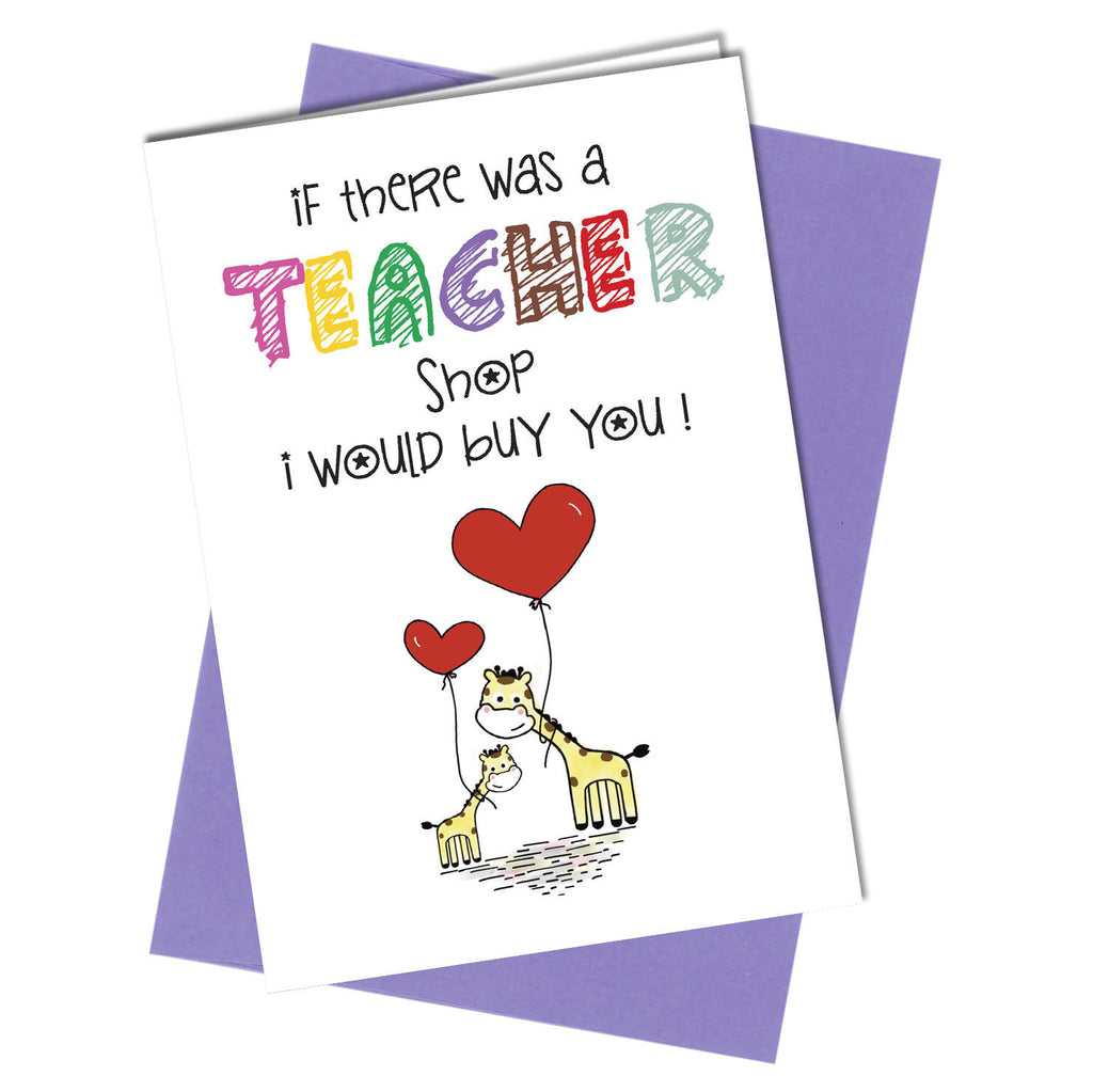 #740 School Teacher / Teacher Shop Greetings Card Thank