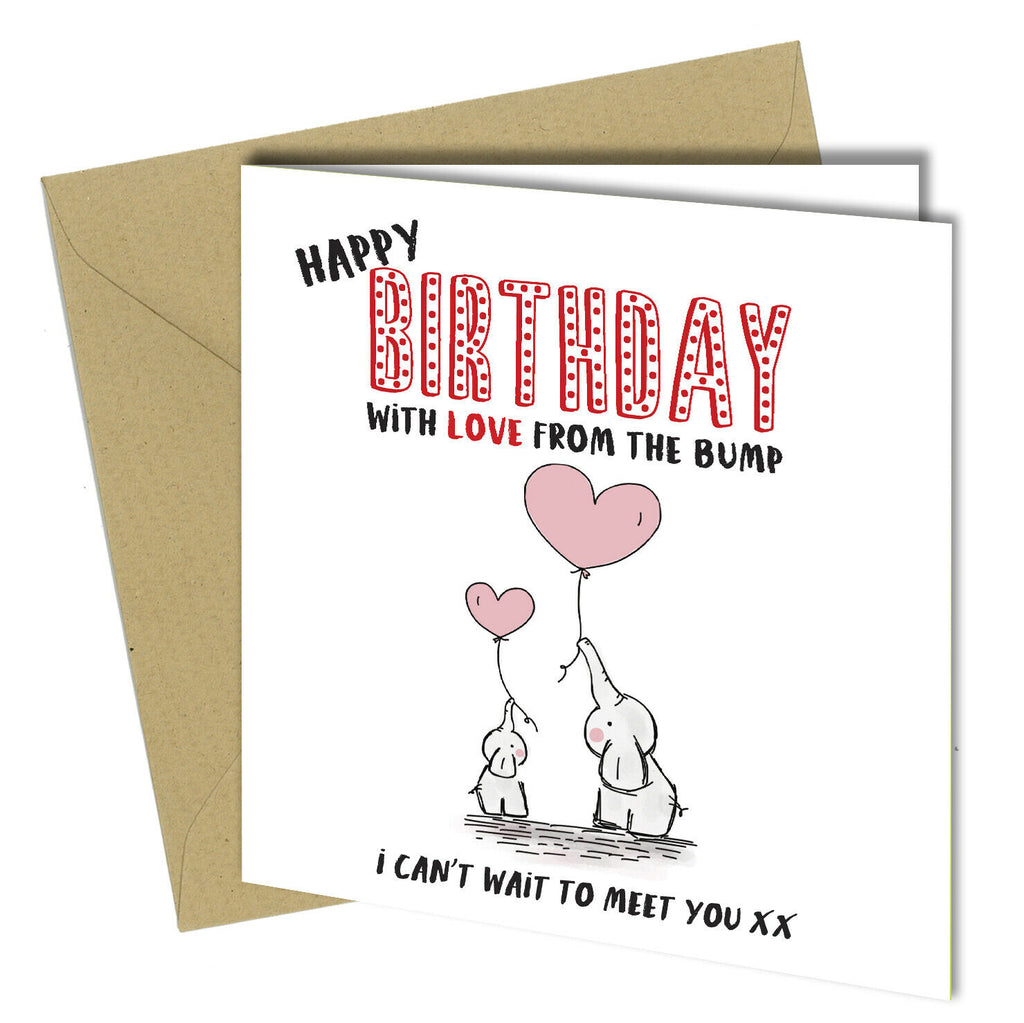 922 BIRTHDAY Card Mum Dad Daddy Mummy To Be From The Baby Bump First