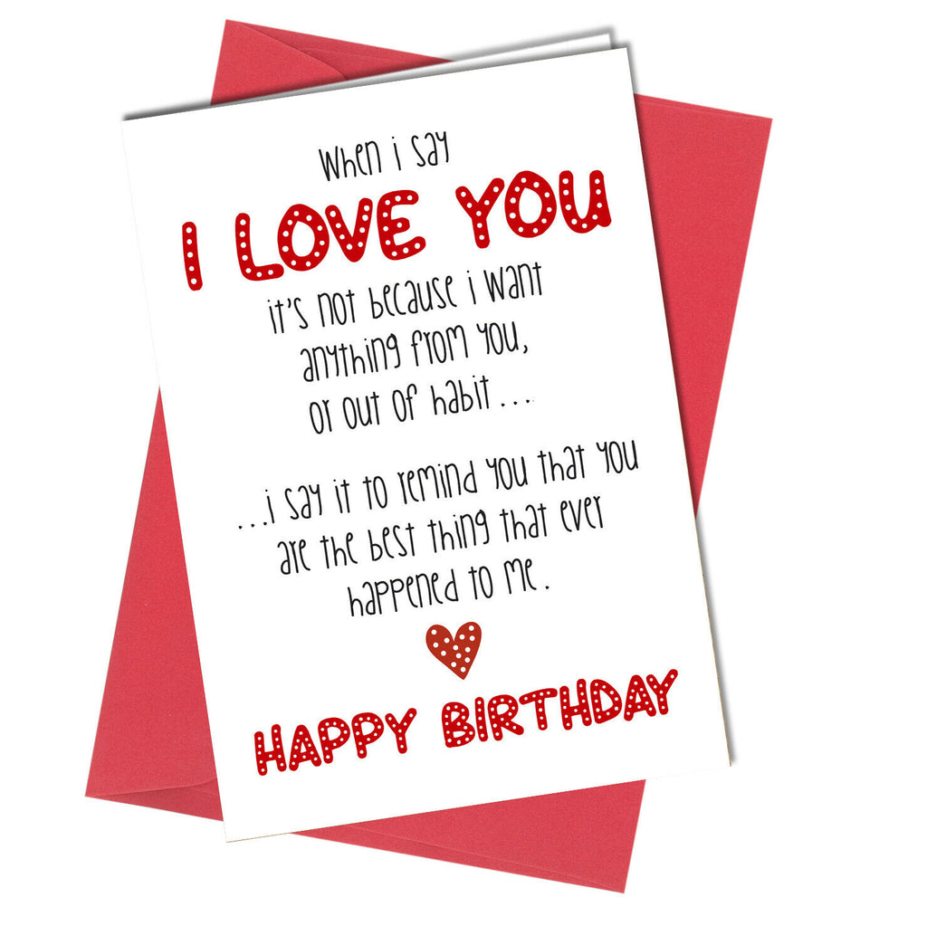 Fabulous 995 Anniversary Birthday Or Mothers Day Card Romantic Love Wife Husba Personalised Birthday Cards Paralily Jamesorg