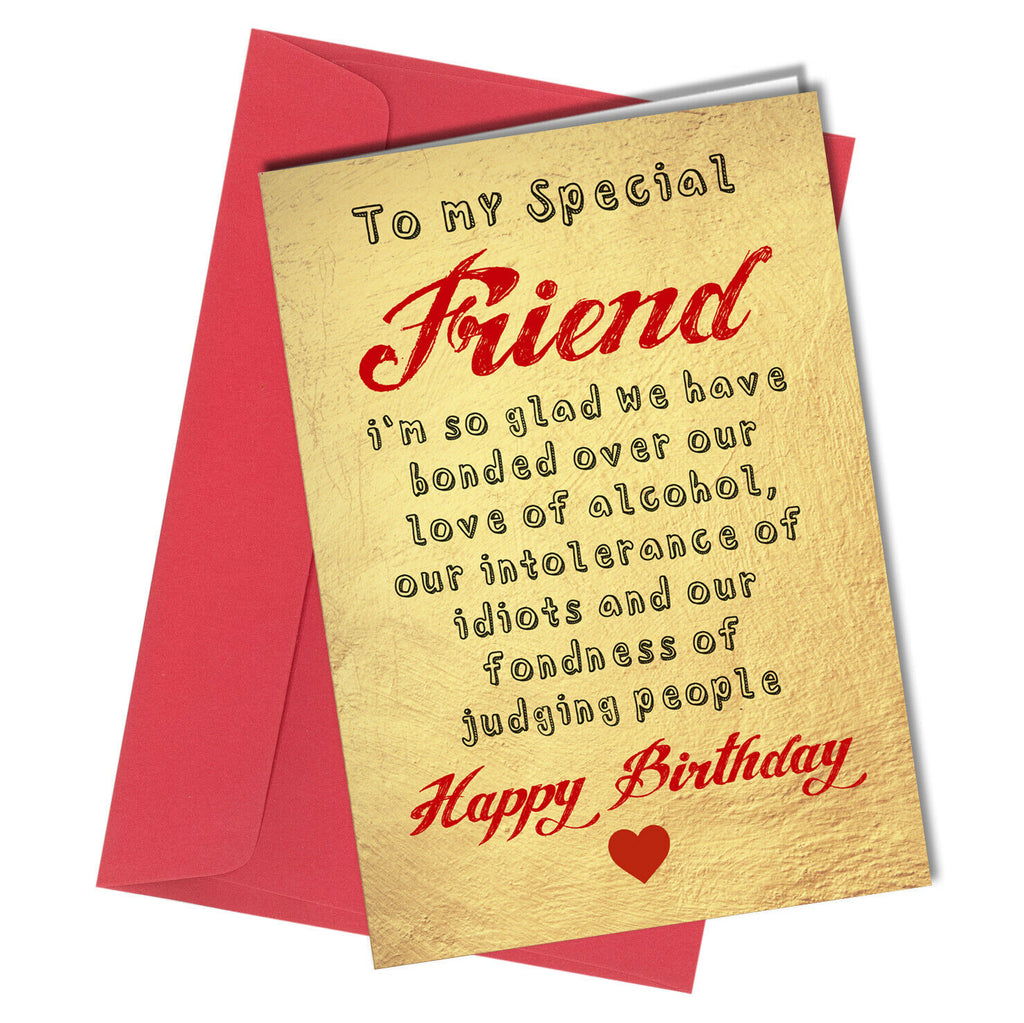 Brilliant Funny Birthday Card Best Friend T Idea Wine Gin Rude Comedy Silly C Personalised Birthday Cards Veneteletsinfo