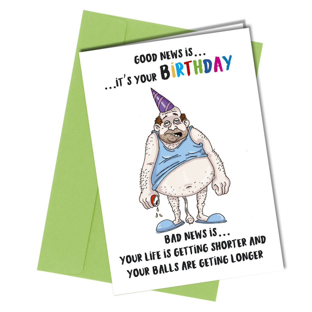#14 BIRTHDAY CARD ADULT Boyfriend Husband HUMOUR Funny Rude By Close to the Bone