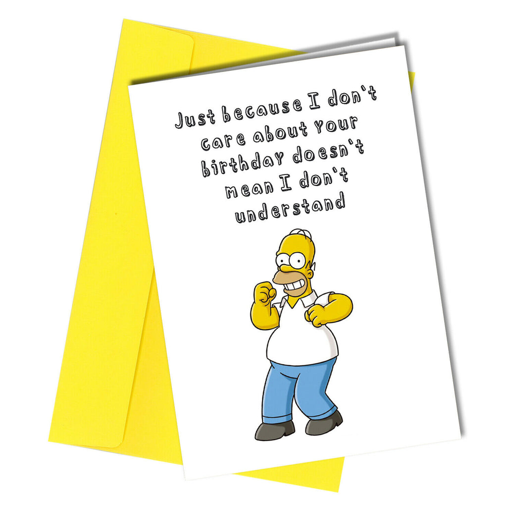 Groovy 1171 Rude Birthday Funny Card Kids Simpsons Sarcastic Banter Blunt Of Funny Birthday Cards Online Eattedamsfinfo