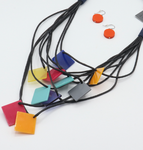 Colorful lightweight fabric cord necklace provides a pops of color to go with all of your looks! fair trade, ethical, sustainable, jewelry, necklace, sustainable