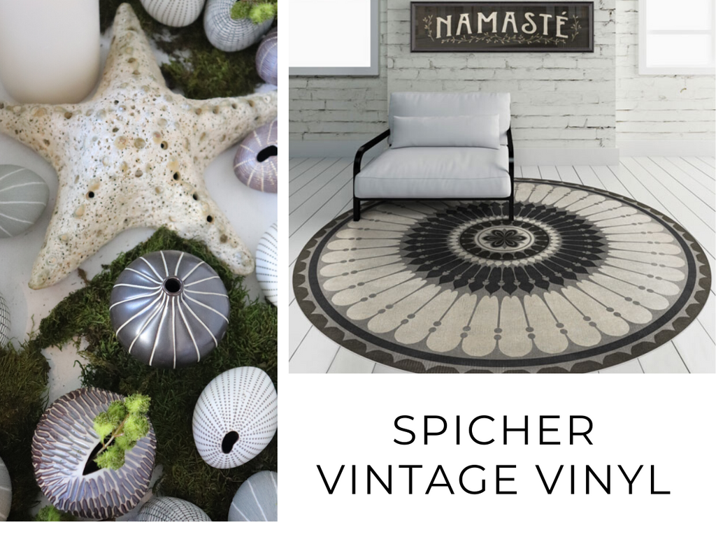 Spicher vintage vinyl, vases, home decor, living room, style, chic