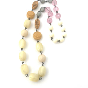 Leetie Lovendale Golds & Cream Rosary Chain Carmen Necklace