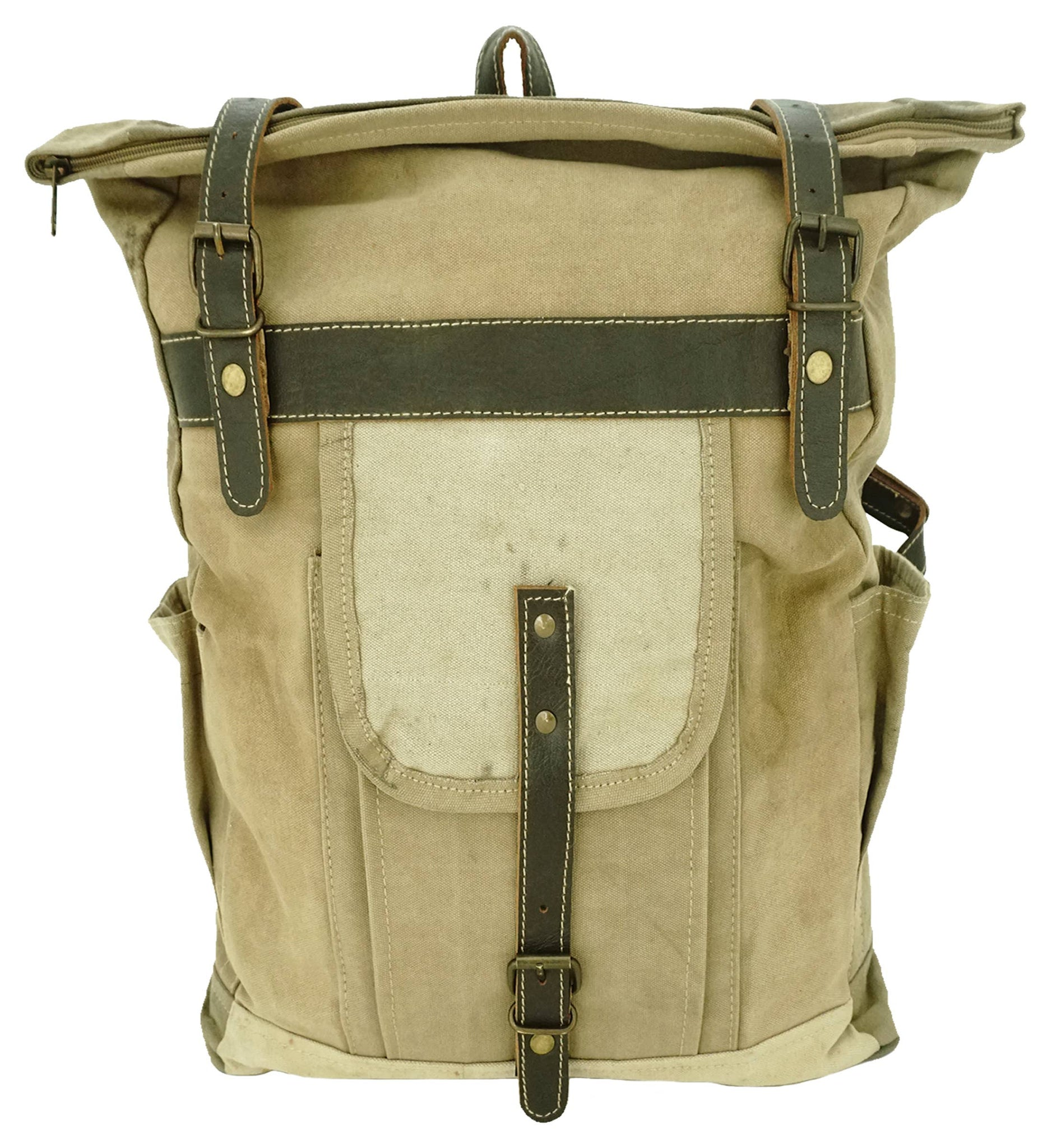 Large Recycled Military Tent Backpack