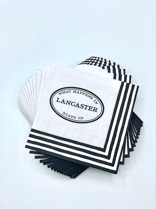 Lancaster Cocktail Napkins - Festoon Boutique