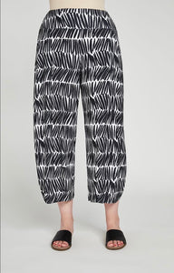 Sympli Lantern Pant, Shifted Stripe