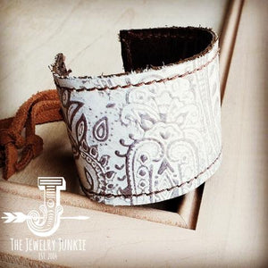 Jewelry Junkie Leather Cuff- Oyster Paisley