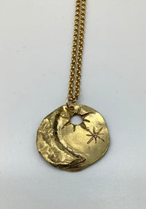 Georgia Varidakis Moon and Stars Necklace Gold