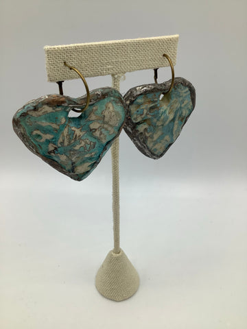 A Rare Bird Heart Earring