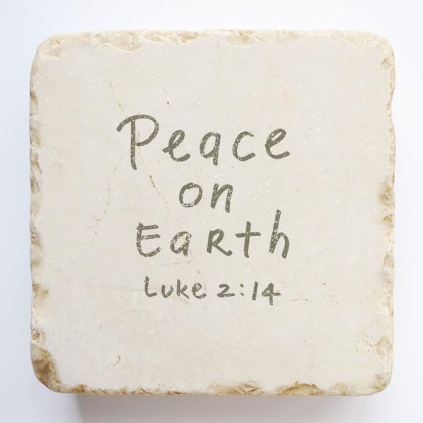Luke 2:14 Scripture Stone Large