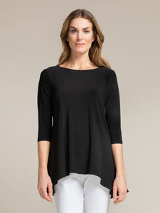 Sympli Black True T, 3/4 Length Sleeve