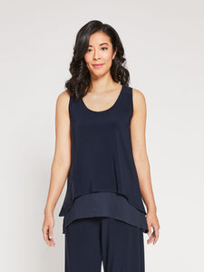 Sympli Whisper Reversible Tank Navy