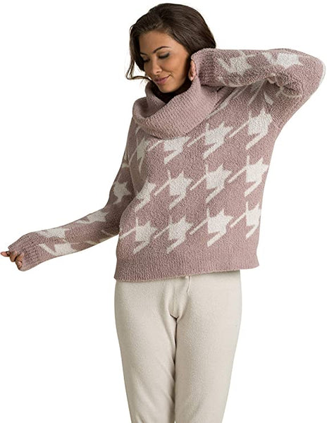 Barefoot Dreams Cozy Chic Houndstooth Pullover