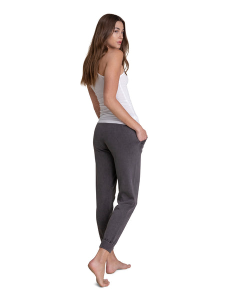 Barefoot Dreams Sunbleached Jogger- Faded Black