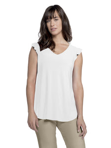 Sympli Ivory Sleeveless Romance Top
