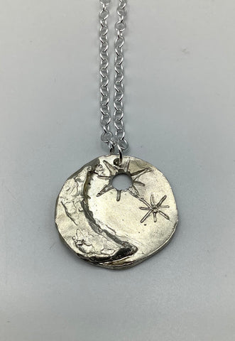 Georgia Varidakis Star and Moon Necklace Sterling