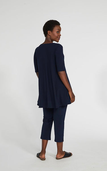 Sympli Capture Tunic, Elbow Sleeve, Navy