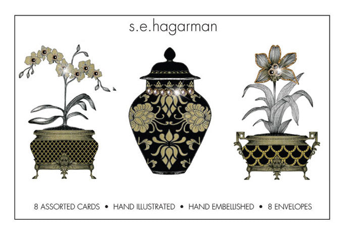 s.e. hagarman chinoiserie assorted cards
