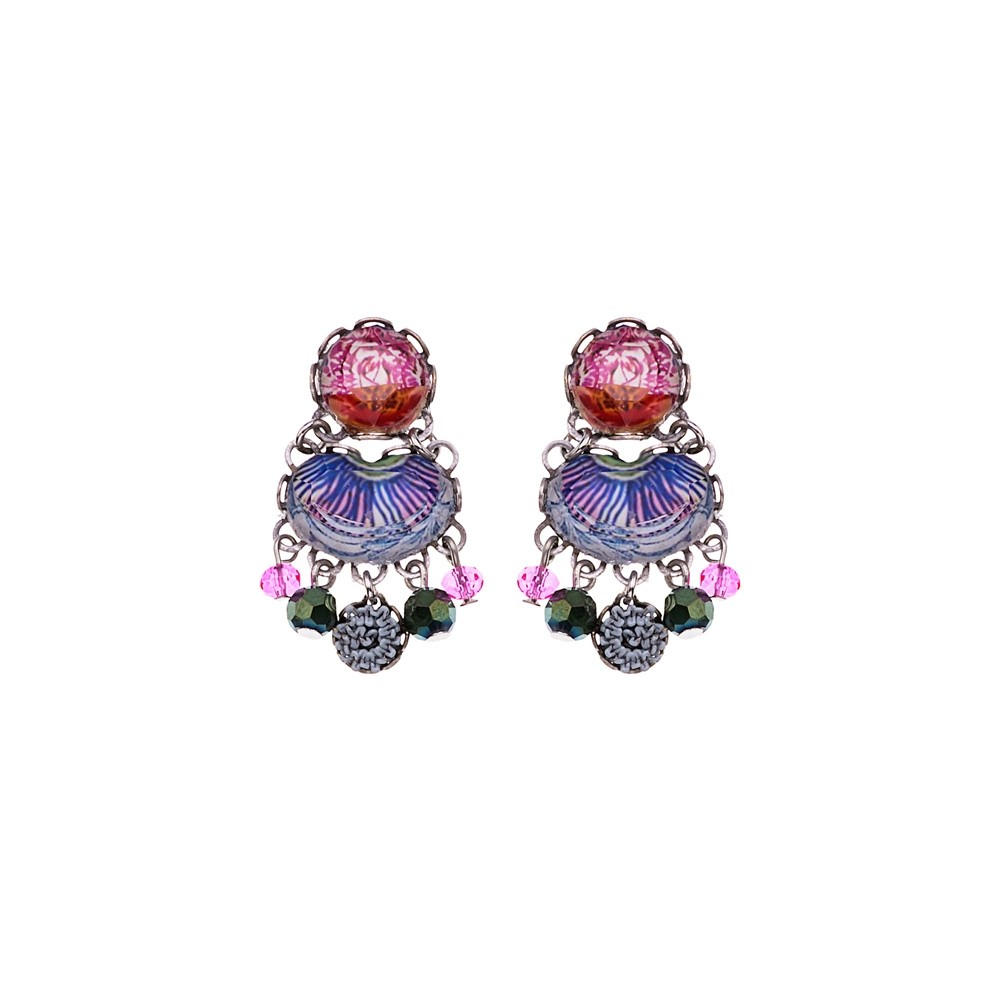 Ayala Bar Enchanted Garden Geranium Earrings