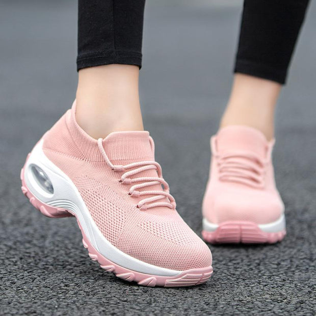 Women's Breathable Light Mesh Casual Woven Shake Sneakers
