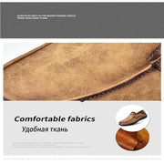 Pearlzone_Men Leather Breathable Moccasins Loafers