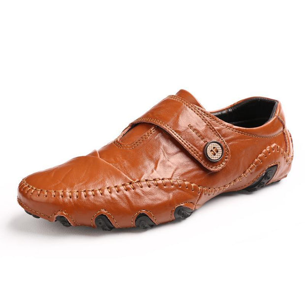 Pearlzone_Men Loafers Genuine Leather Slip on Designer Shoes