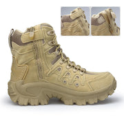 Pearlzone_Men Military Leather Tactical Desert Snow Boots