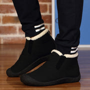 Pearlzone_Men 2018 New Autumn Winter Warm Shoes With Faux Fur Boots