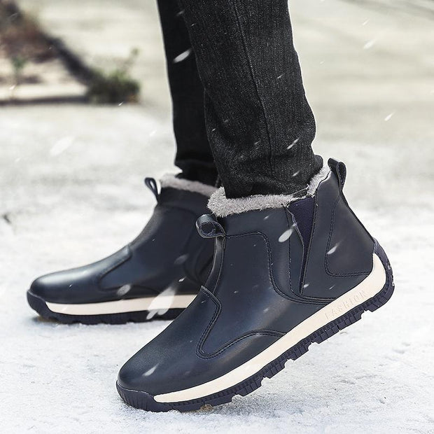 Men's Plus Size Winter Faux Fur Warm Snow Boots - pearlzone