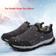 Winter Warm  Fur Inside  Walking Cotton-padded shoes - pearlzone