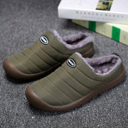 Pearlzone_Men Winter Cotton-padded Water-resistant Faux Fur Warm Flat Shoes
