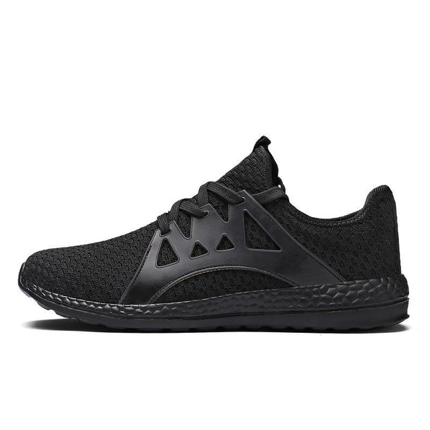 Pearlzone_Men's  Lace-up Athletic Trainers Sports Shoes