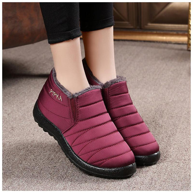 Waterproof Soft Sole Slip On Warm Casual Winter Snow Ankle Boots