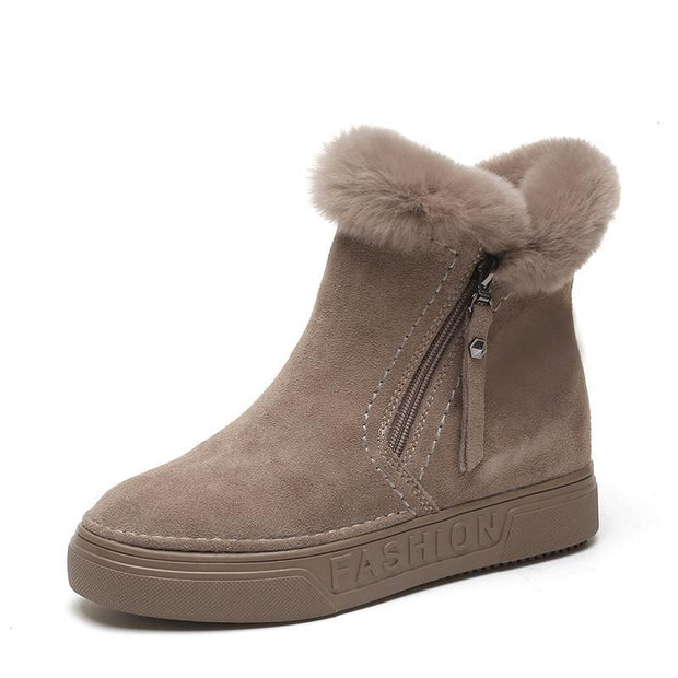 Pearlzone_Ladies Hidden Heel Snow boots