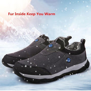 Men's Winter Warm Shoes Faux Fur Walking Cotton-padded Shoes - pearlzone