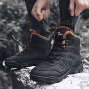 Pearlzone_Men Winter With Faux Fur Warm Snow Rubber Ankle Hiking Boots