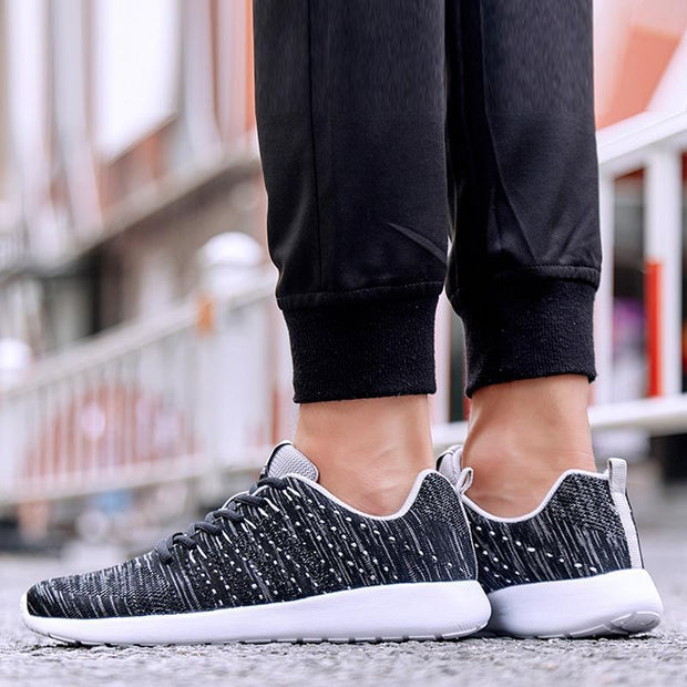 Pearlzone_Men Breathable Mesh Sports Sneakers