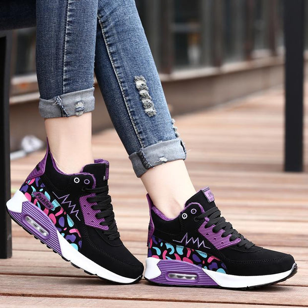 Women's  Autumn And Winter Plus Velvet Warm Heightening Shoes