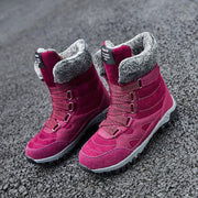 Women High Wedge Water-resistant Warm Plush Hiking Boots