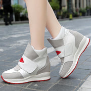 Women's Lip Print Velcro Casual Elevator Sports Shoes