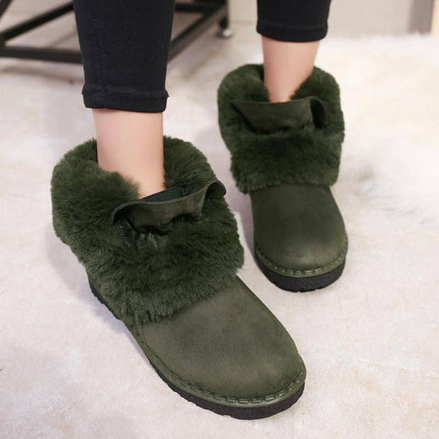 Women Plush Warm Faux Fur Boots