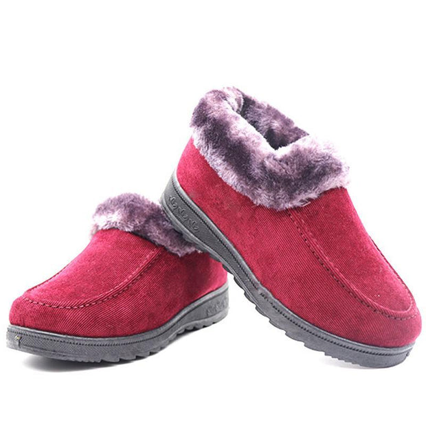 Women Winter Plus Velvet Flat Lazy Shoes