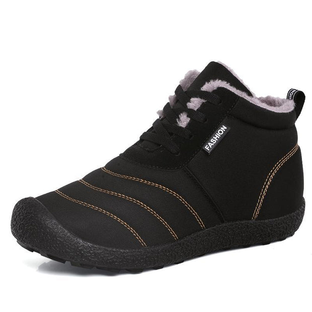 Pearlzone_Autumn and Winter Female Water-resistant High-top Cotton Shoes
