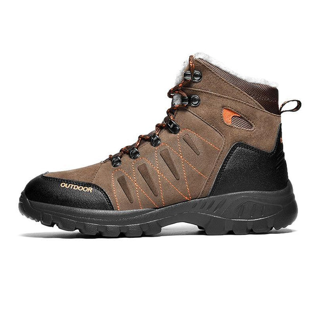 Pearlzone_Men Outdoor Plush High-top Hiking Boots