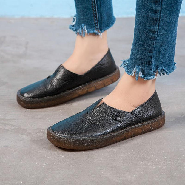 Women's Flat Soft Bottome Anti-slip Bean Shoes