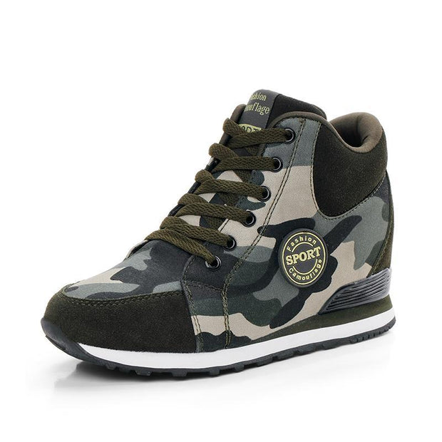 Women's Camouflage Heightening Casual Shoes